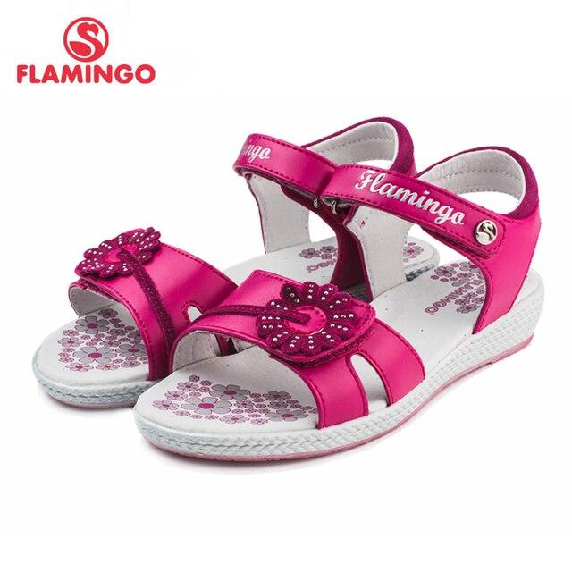 Flamingo известный бренд 2016 новых прибытия весенние и летние дети мода высокого качества сандалии для девочек 61-qs128/61-qs129