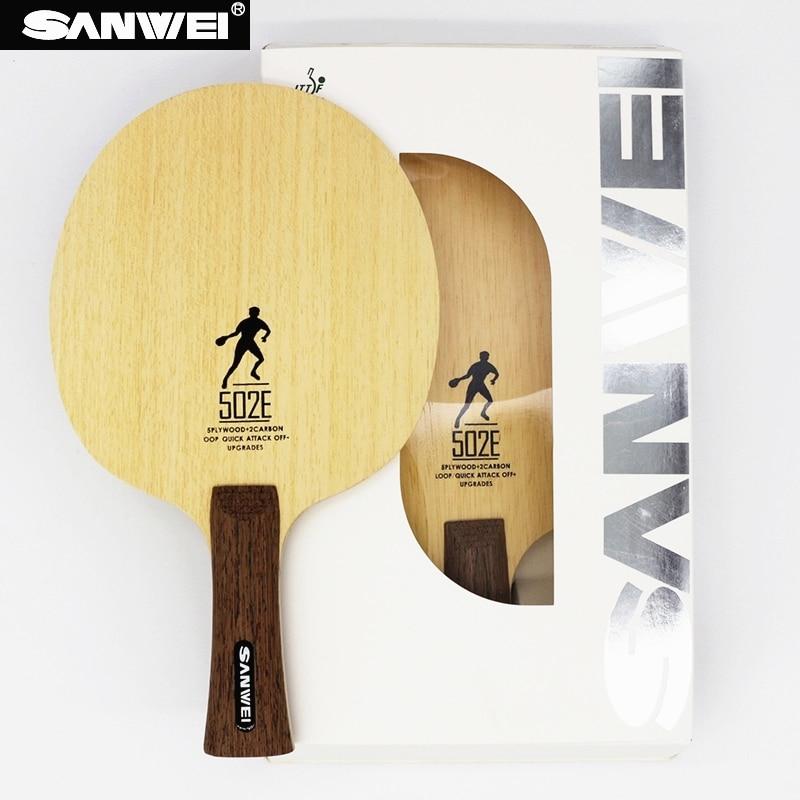 SANWEI 502E Table Tennis  Blade 5 Plywood+ 2 LD Carbon Fiber All-around Training Ping Pong Racket Bat Paddle