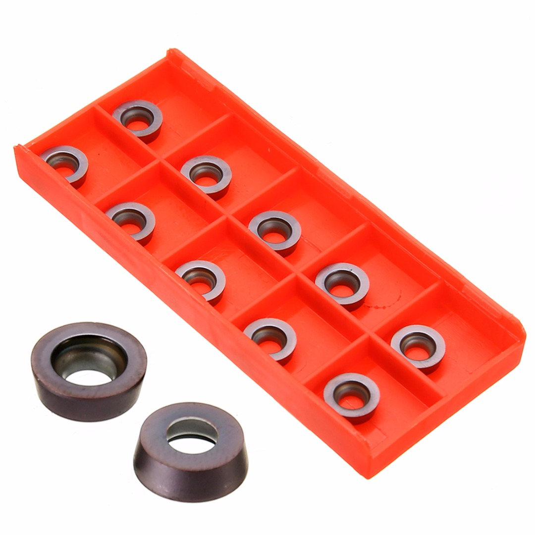 10Pcs RPMT1003 M0 VP15TF Carbide Inserts Cutter Blades 3.2mm Thickness For Lathe Turning Tool CNC Milling Tool
