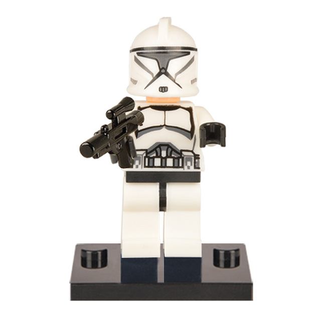 Star wars 100PCS XH021 WHITE Clone Trooper Building blocks Bricks best gift DIY Baby Toys