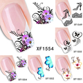 High Quality High Heels Flower Butterfly Water Transfer Nail Art Decals Manicure Tips Stickers
