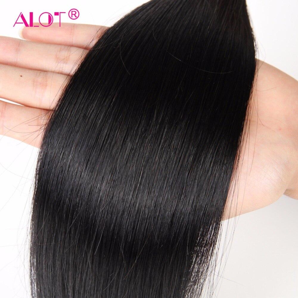 HTB1ucgEb9zqK1RjSZFjq6zlCFXa4 Alot Peruvian Straight Hair Bundles With Closure 3 Bundles With Closure Human Hair Weave Bundles With Closure Non Remy 4 Pcs/lot