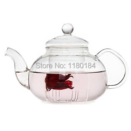 1 ШТ. 800 мл цветок кофе стекло чайник, большой цветущий китайский стеклянные чайники, термостойкого стекла чай горшки заварки ПР 0007