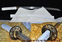 HighQuality Clay Tempered folded steel Blade Japanese Sword Wakizashi #m809