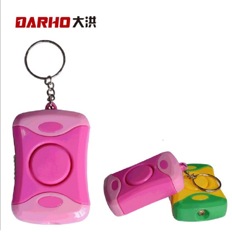 Darho Mini LED Light Personal Alarm Keychian For Women Girls Kids Elderly Personal Security Keychain Alarm