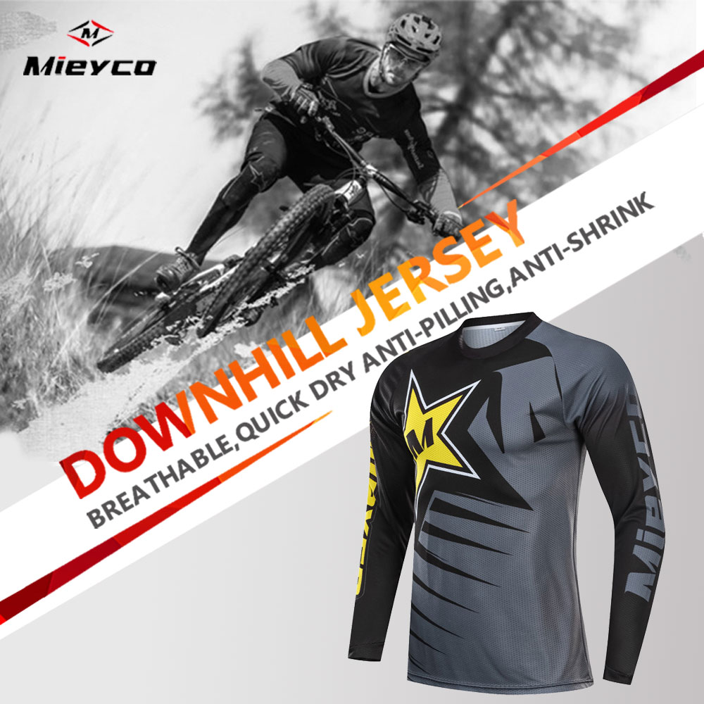 Men's Moto Motocross Jersey Maillot Ciclismo Hombre Dh Downhill Jersey Off Road Mountain Spexcec Clycling Long Sleeve Mtb Jersey