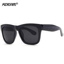 9d6cf54132 KDEAM Polarized Goggles Men Sunglasses Black Top Sun Glasses Minimalist  Shades As
