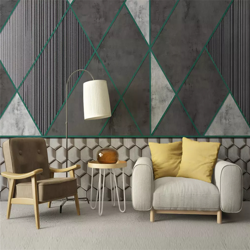 Decorative Wallpaper Modern Simple Style Geometry 3d White Mosaic Mosaic Background Wall Painting