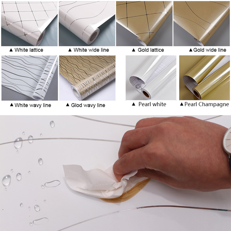 0.6x3m Baking Paint Self Adhesive Wallpaper Creative Refurbished Furniture Stickers Cupboard Desktop Waterproof Decorative Film