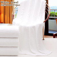 Hot Sell Big Oversize White Cotton Bath Towel 75x140cm Bath Towel For Beauty Salon Foot Bath