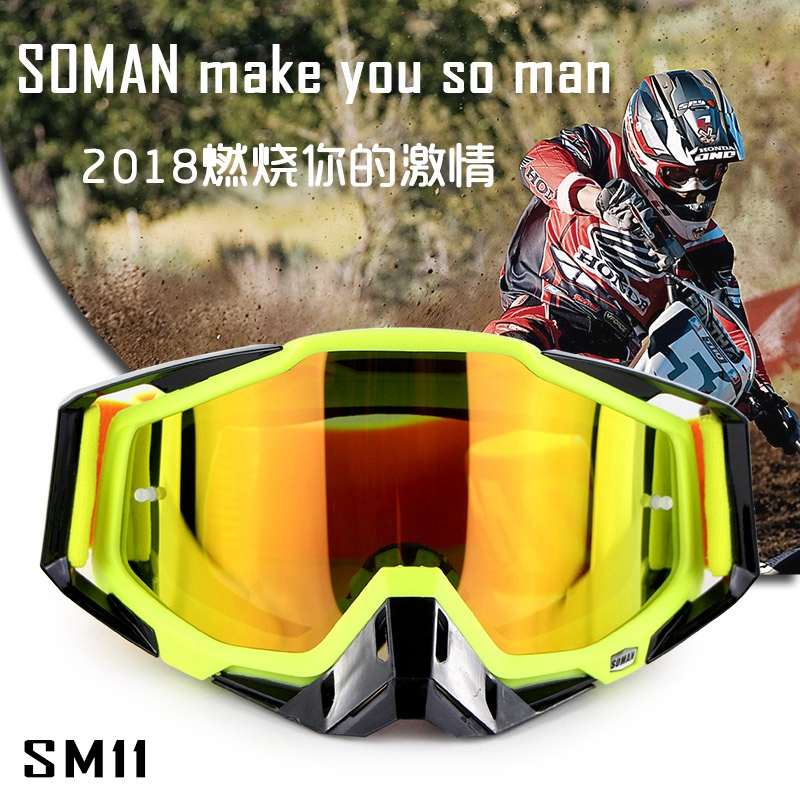 High Quality Motorcycle Goggles SOMAN Brand ATV Casque Motocross Glasses Racing Moto Bike Cycling CS Gafas Sunglasses