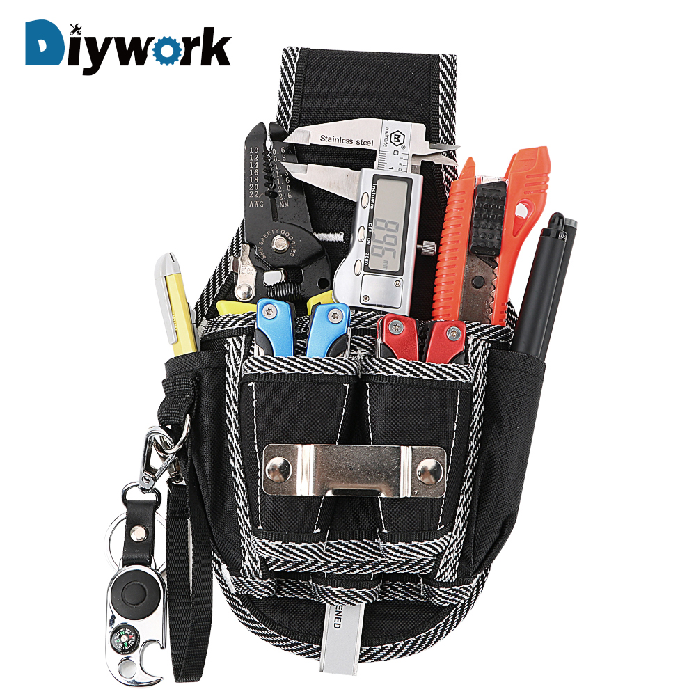 DIYWORK Waist Pocket Tool Belt Pouch Bag Drill Hammer Storage Drill Screwdriver Utility Kit Holder Carpenter Tool Bag