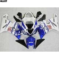 Blue White ABS Plastic Injection Fairing Kits Bodywork For Kawasaki ZX6R ZX 6R Ninja 636 2005 2006 ZX6R ZX 6R Ninja 636 05 06