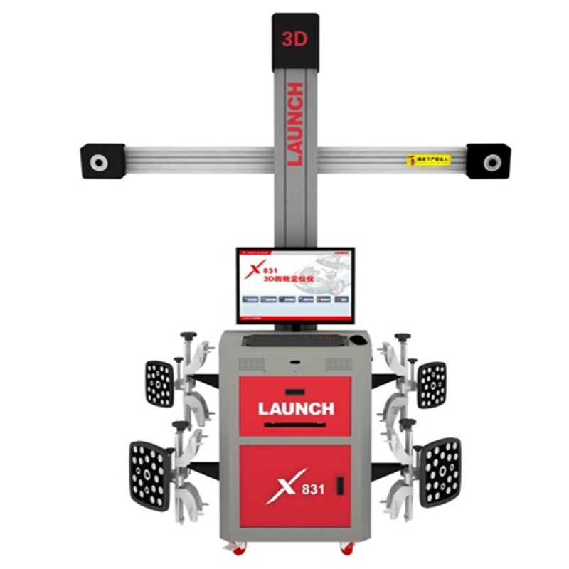Original Launch X831C2 High Precision 3D Car Wheel Alignment Machine With Multistation Movement And Manual Tracking