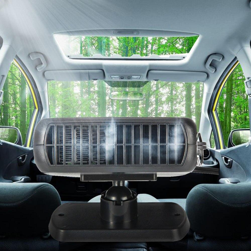 Caliente 150 W 12 V calentador de estacionamiento de coche calefacción eléctrica refrigeración 2 en 1 ventilador portátil secador de coche calentador de parabrisas desactivado Demister