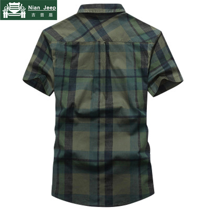 NIANJEEP 2018 New Summer Plaid Short Sleeves Shirts Men Casual Cotton Breathable Mens Shirt camisas para hombre Size M-4XL
