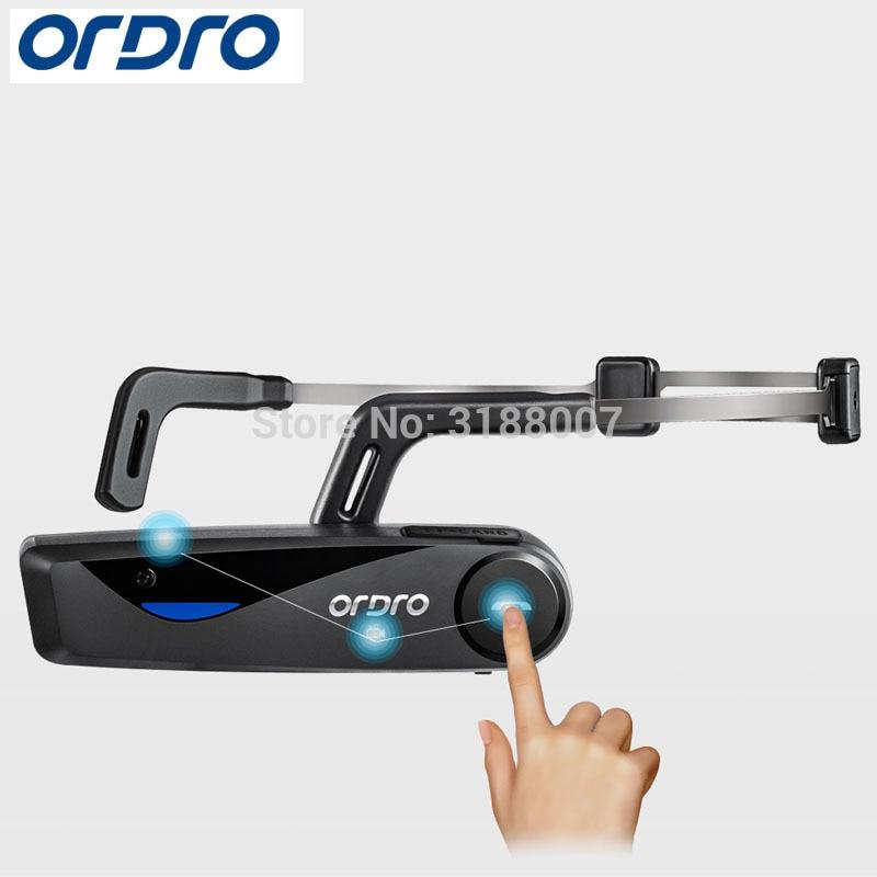 ORDRO Bone Conduction Bluetooth 4 .0 Hand Free Head Band Action Mini DV Camera Consumer Camcorders with earphone WiFi F