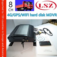 Boat / school bus hard disk mobile DVR 8 channel video recorder GPS WiFi monitor host 4g mdvr NTSC/PAL system