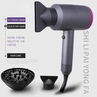 2000W Professional Salon Hair Dryer 2 in 1 Hot Air Dryer Brush Hair Dryers Negative Lonic Hair Straightener Comb Salon Style