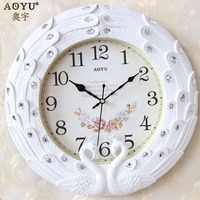 Quartz Clocks Watches Modern European Creative Simple 18 Inch Heavy Diamond Clock Wall Clock Fashion Bedroom