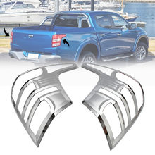 426b0cc56 2x Tail Light Lamp Cover Protector Chrome Trim for Mitsubishi Triton-L200  2015-2018 ABS 41x30cm Waterproof No Fade No Rust