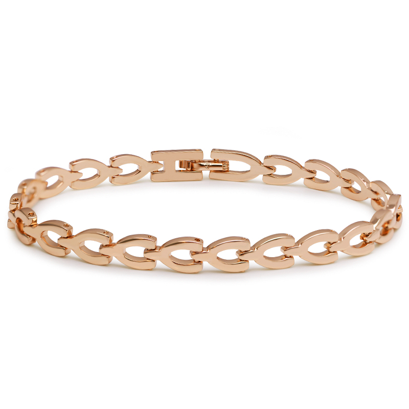 MxGxFam ( 19.3 cm * 6 mm ) New Arrival Watch Bracelet For Men AAA+ Jewelry Gold Color 18 K Lead and Nickel Free(China)