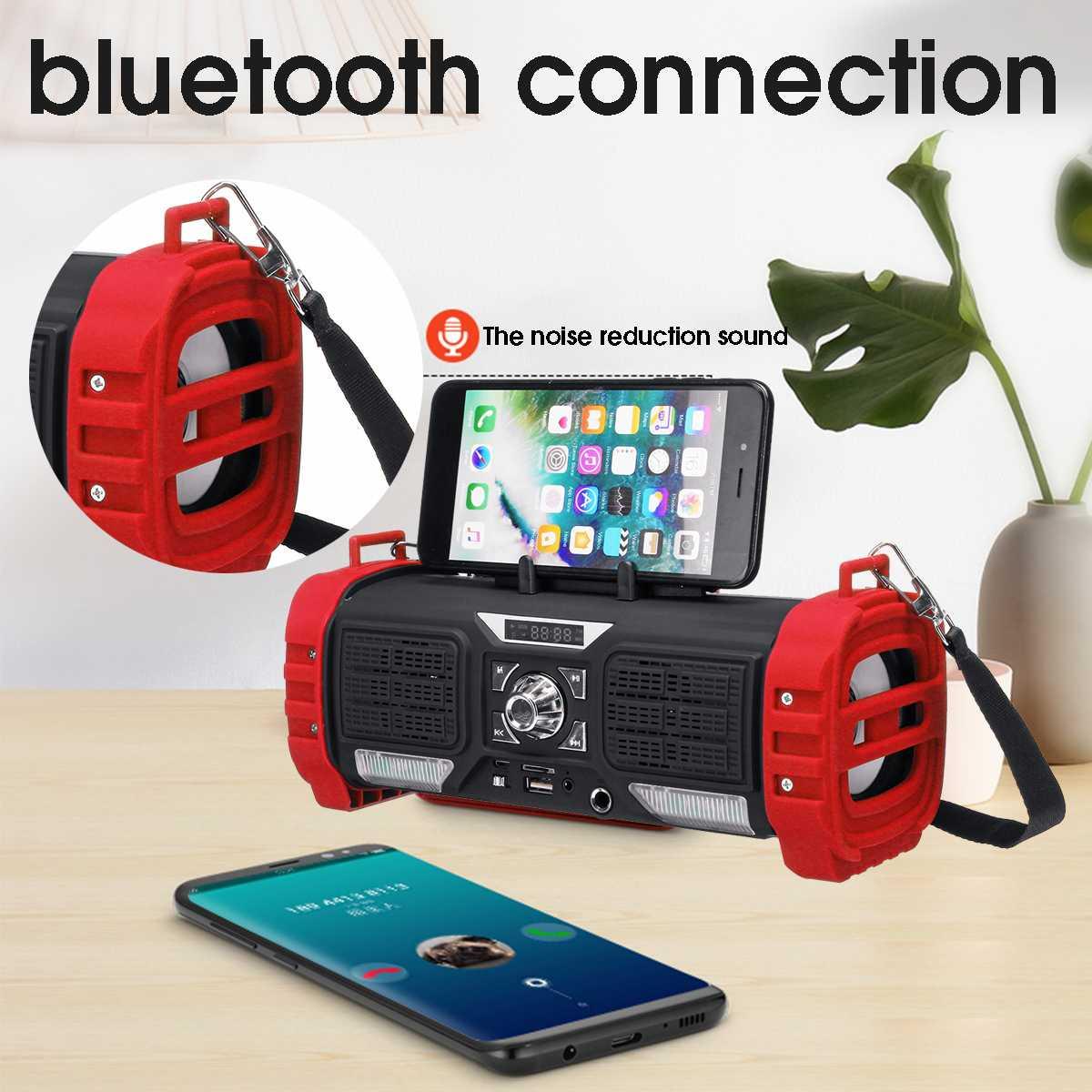 2200 mAh Tragbare Wireless bluetooth Lautsprecher 5 W Drahtlose Lautsprecher Digital Sound System Telefon Halter Lautsprecher W/Farbige Lichter