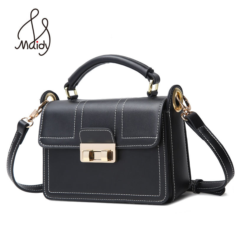 Maidy Luxury Women Ladies Real Cow Leather Flap Messenger Bags Totes Shoulder Crossbody Clutch Hasp Lock Handbags High Quality nucelle brand design vintage luxury leopard with horse coat cow leather women ladies handbag shoulder crossbody flap bags