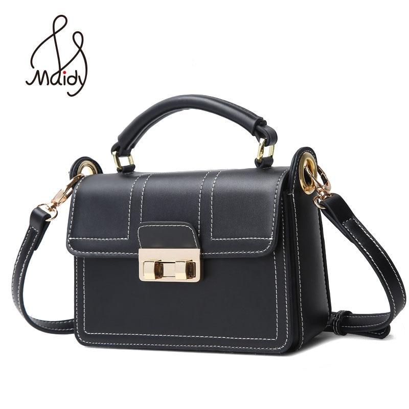 Maidy Luxury Women Ladies Real Cow Leather Flap Messenger Bags Totes Shoulder Crossbody Clutch Hasp Lock Handbags High Quality стоимость