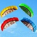 Alta Qualidade 2.5 m 4 Cores Ferramentas de Poder Linha Dupla Parafoil Pipa WithFlying Braid Kitesurf Íris Esportes Praia de Vela