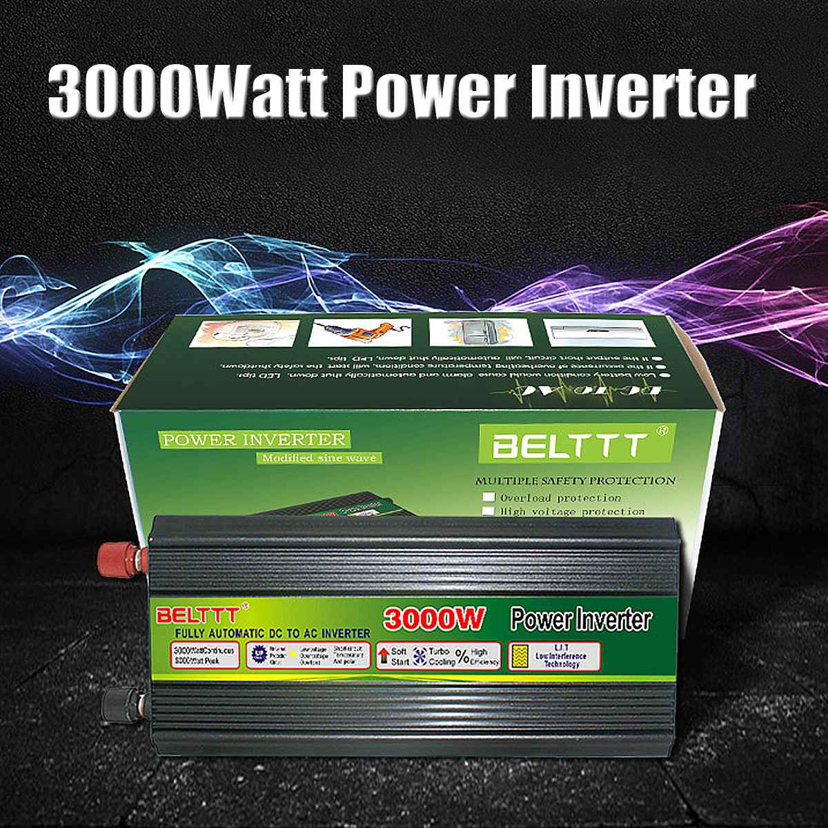 DC12V/24V to AC220V Modified sine wave 3000W 6000W Max Power Inverter + Charger & UPS for Solar/Wind for Car Inverters