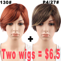 Promotions  Short Synthetic Wigs For Black Women Wigs Women Short Hair African American Short Wigs Hair Cuts Female Sale