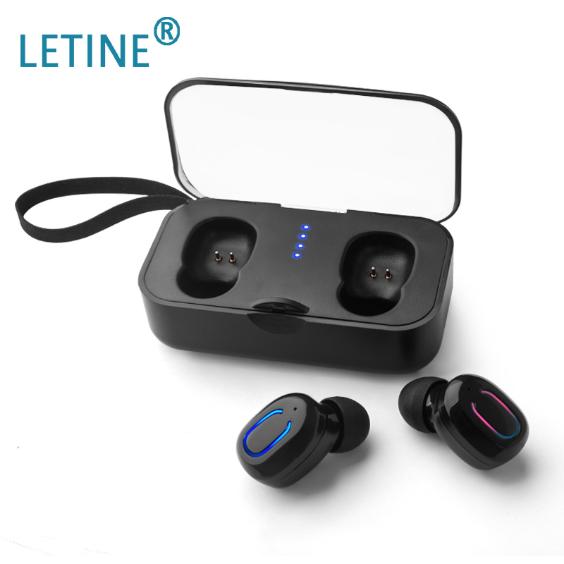 Letine TWS TI8S Cool Bluetooth 5.0 Stereo Headset Mini Charging Bin Game Wireless Sport Headphones For iphone Android-in Bluetooth Earphones & Headphones from Consumer Electronics