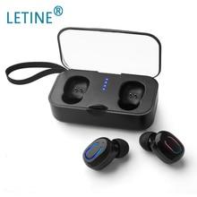 Letine TWS TI8S Legal Bluetooth 5.0 Stereo Headset Mini Carregamento Bin Jogo Esporte Sem Fio Fones De Ouvido Para iphone Android