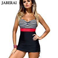 JABERAI Plus Size One Piece Swimsuit 2017 Striped Retro Swimming Suit For Women Swiming Dress Bathing