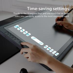 Image 4 - Huion Monitor Digital para tableta Kamvas Pro 22 2018, 21,5 pulgadas, 8192 niveles, bolígrafo sin batería