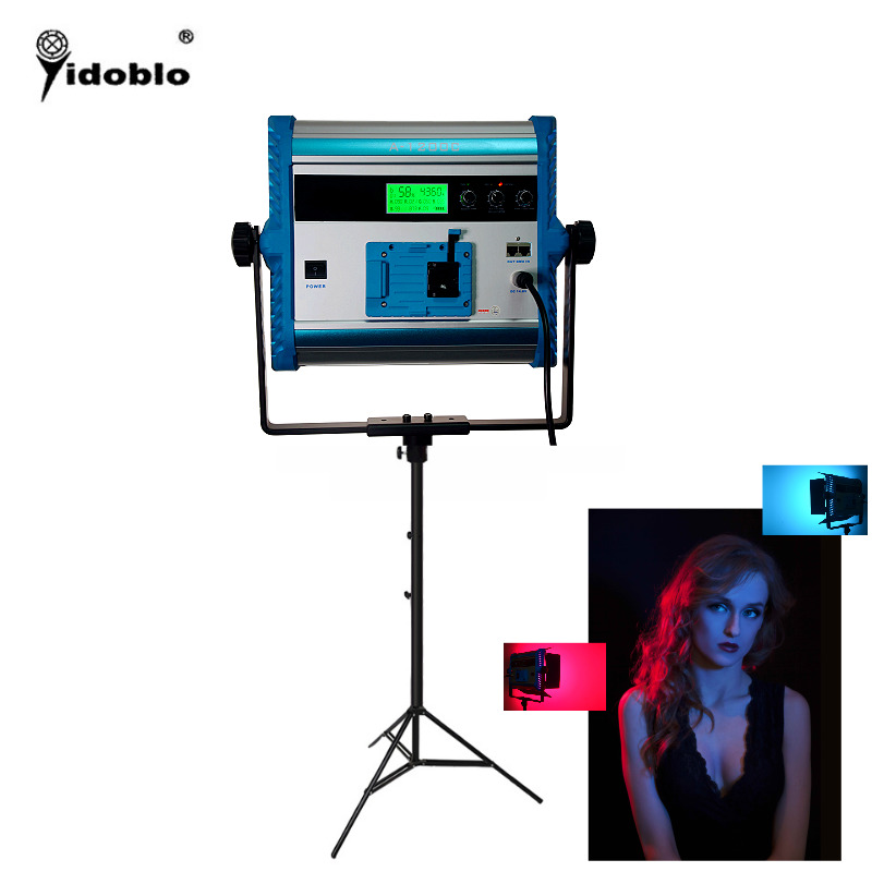 Yidoblo A 1200c RGB LCD Display LED Lamp Soft light multi color led panel light For broadcast Lamp APP Remote control set in Photographic Lighting from Consumer Electronics