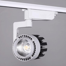 Factory Hot sale AC85~265V 30W COB LED track spotlight rail spot light lamp