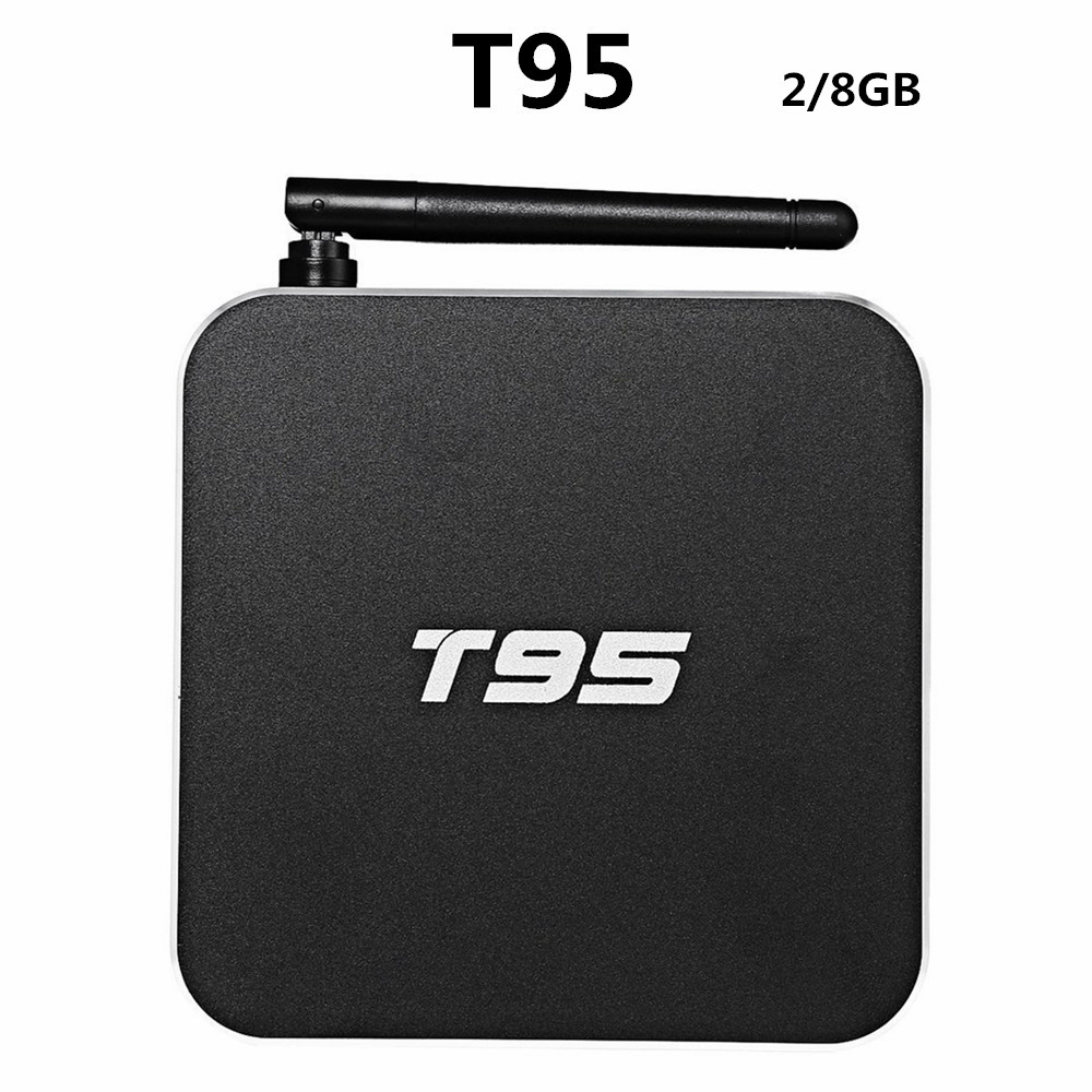 T95 Metal Case Amlogic S905 Quad Core Andorid 5.1 TV BOX 2GB/8GB 2.4G/5GHz Dual WiFi KODI 16.0 ADD ONS Pre-installed m8 fully loaded xbmc amlogic s802 android tv box quad core 2g 8g mali450 4k 2 4g 5g dual wifi pre installed apk add ons