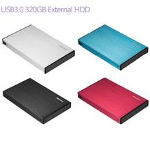 НОВЫЙ 2.5 дюймов USB3.0 320 ГБ внешний HDD Портативный жесткий диск для рабочего стола ноутбука USB с Тип- micro B кабель для передачи данных