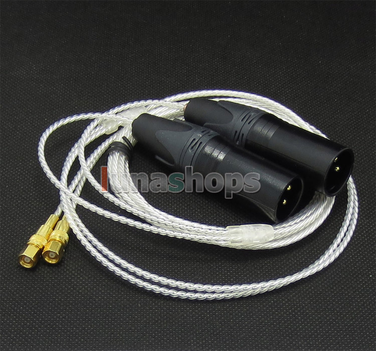LN004728 3pin XLR PCOCC + Argent Plaqué Câble pour HiFiMan HE400 HE5 HE6 HE300 HE560 HE4 HE500 HE600 Casque