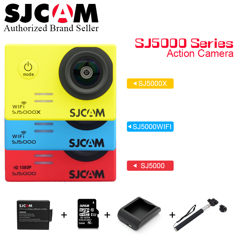 Original sjcam SJ5000 Series SJ5000 & SJ5000 WiFi  & SJ5000X Action Sport Camera 4K Waterproof Camera SJ 5000 X Gyro Cam экшн камера sjcam sj5000 wifi black