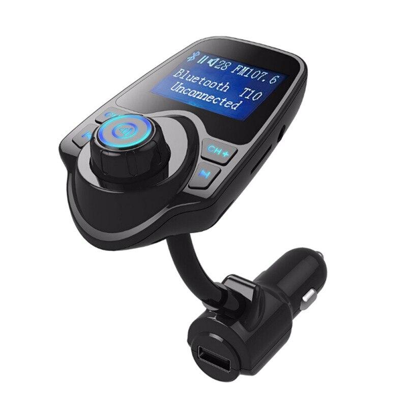 Dhl 10 Stücke T10 Bluetooth Car Kit Mp3 Player Hände-freies Call Wireless Fm Transmitter Auto Ladegerät Unterstützung Micro Tf Karte Komplette Artikelauswahl