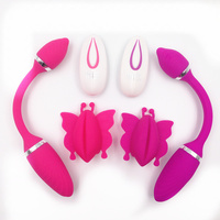 Female Wireless Remote Control Double Heads Powerful Vibrator Anal & Vagina Stimulator Bullets Egg Vibrator Sex Toys for Women