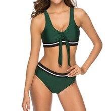 Summer Ladies Army Green Color Sexy Bikini Swimwear Womens High Waist Set Beach Swimsuit Monokini Bathing Suit