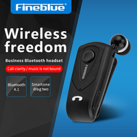 Fineblue Mini Business Wireless Earphone F930 For Music Sports Portable Bluetooth Headset Bass Remind Vibration Wear