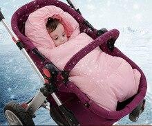 85cm Bb Sleeping Bag for Stroller Envelope for Newborn Winter Down stroller bag Fleece Baby Blanket