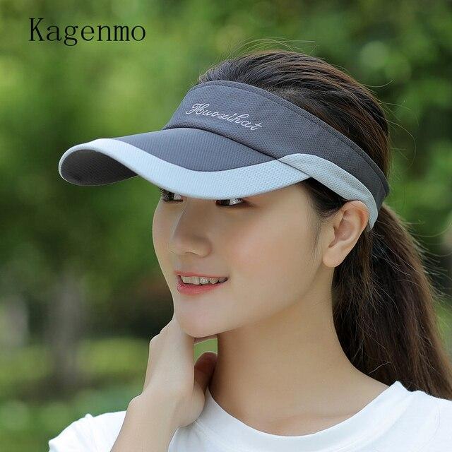 53a28b73cf7 Kagenmo Summer male women s tennis ball cap crownless sunbonnet sun hat  baseball cap visor