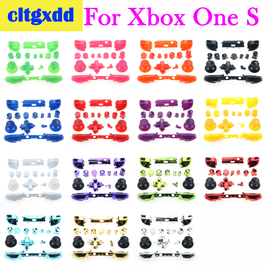Cltgxdd Full Button Sets Mod Replace Dpad ABXY Trigger Parts For Microsoft Xboxone S Controller Joystick Button