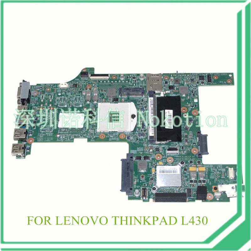 NOKOTION FRU 04Y2003 Laptop motherboard For lenovo thinkpad L430 14'' HD4000 DDR3 nokotion fru 04y1167 qile1 la 8131p for lenovo thinkpad edge e430 laptop motherboard hm77 hd4000 ddr3 systems board